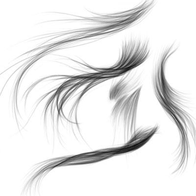 Кисть волосы