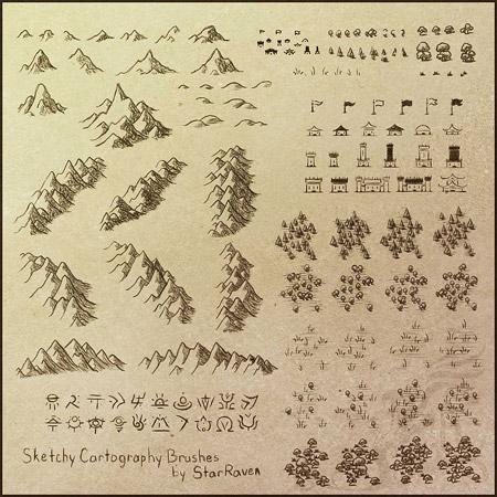 Кисти для картографии фотошоп