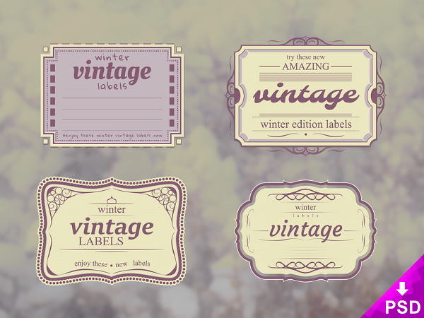 Vintage Label Template Psd