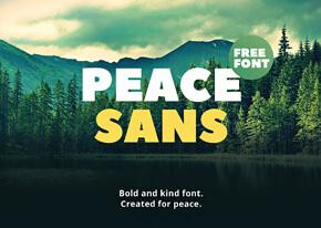 шрифт Peace Sans фотошоп мастер