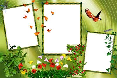Зелёный коллаж / Green collage.