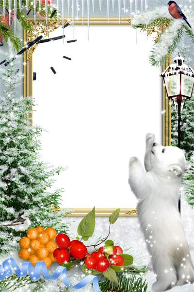 Рамки для поздравления с днем рождения зимние