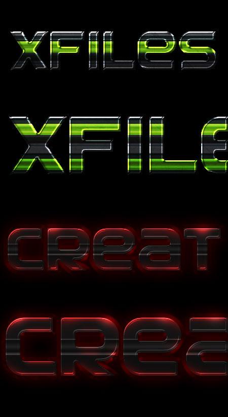 Стили для фотошоп X-files