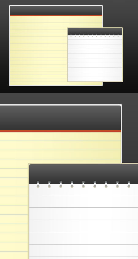 Free PSD Notepad Templates