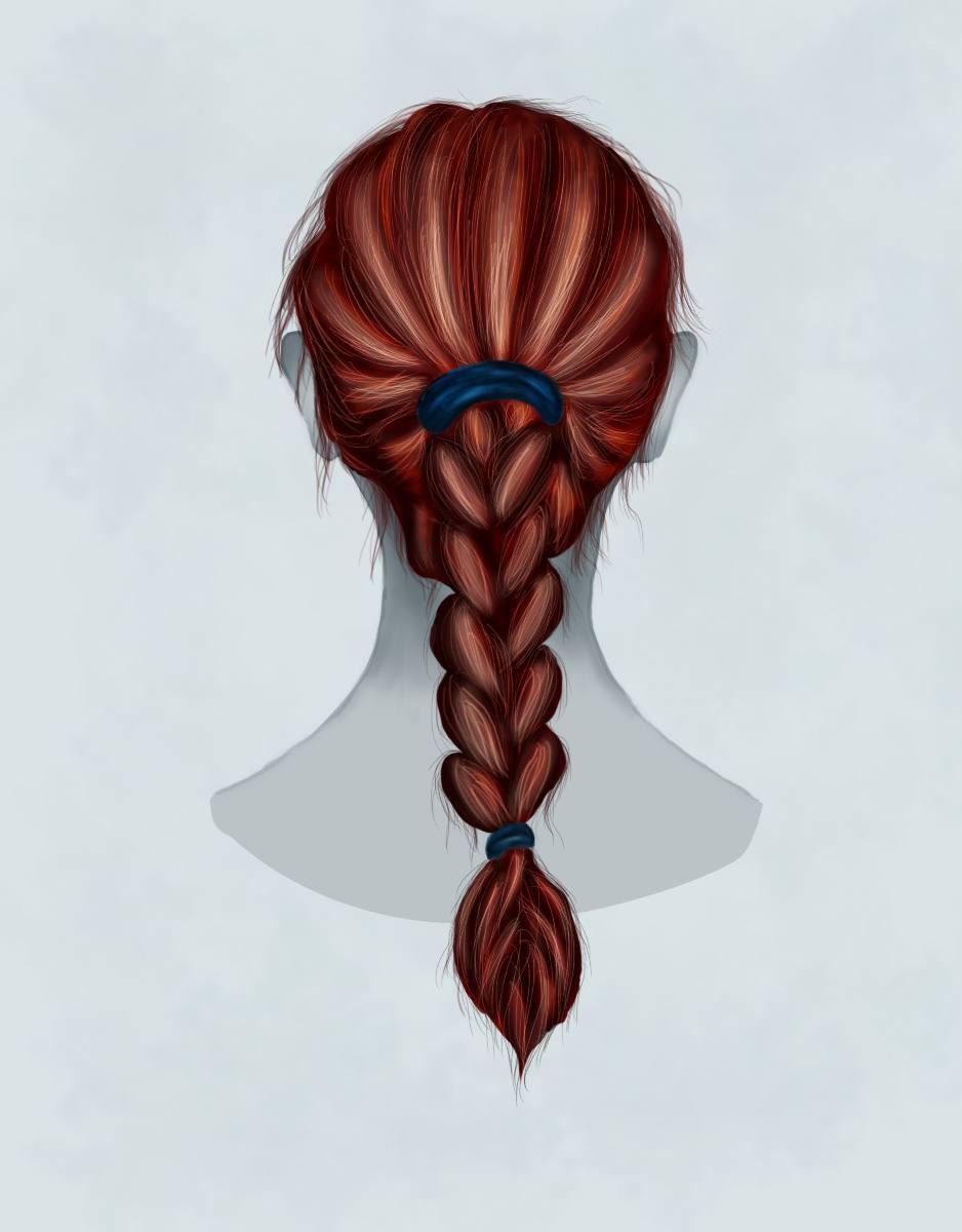 Как нарисовать косу девушки фото
