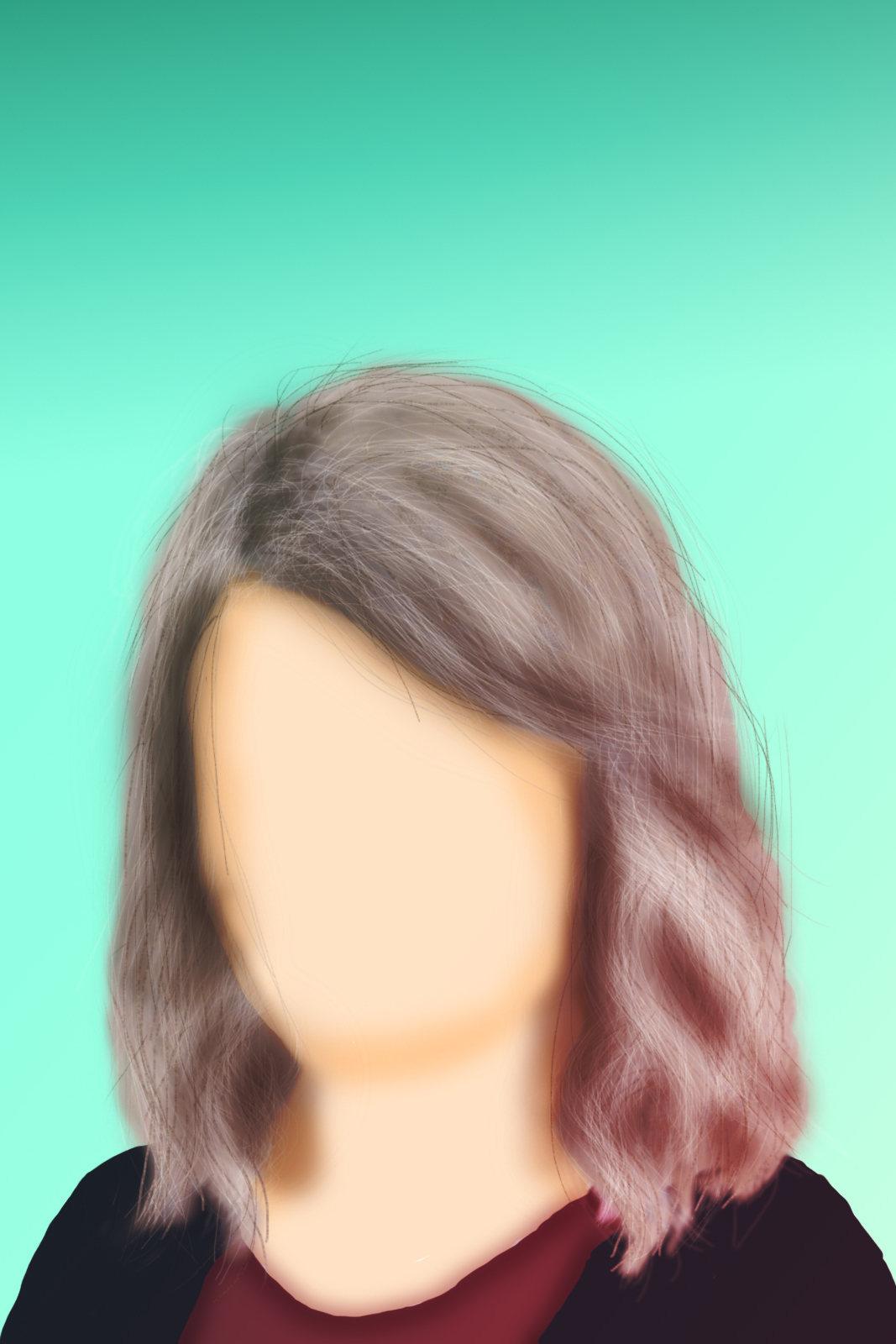 В фотошопе нарисовать волосы