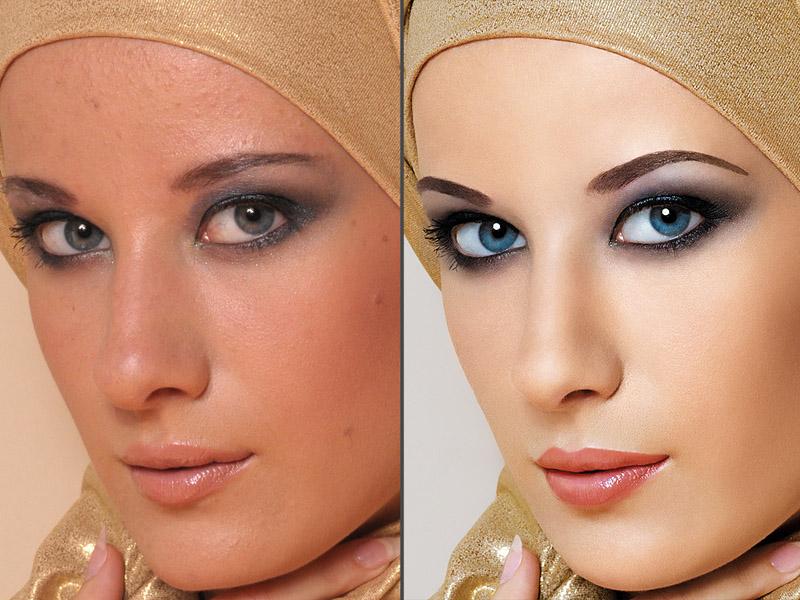 Как сделать кожу как у модели