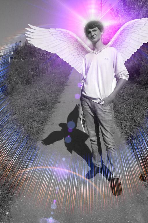 Как на фотошопе крылья сделать
