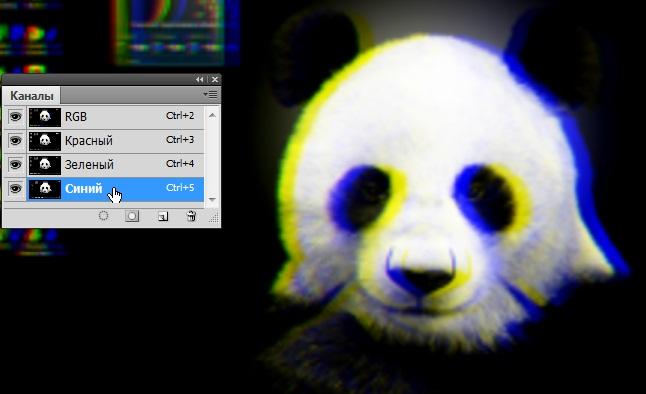 Как в фотошопе сделать красно синий эффект