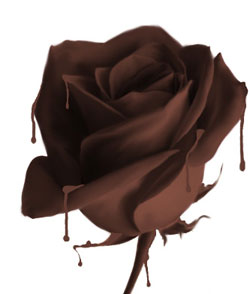 Розочка из шоколада Sludging