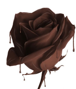 Розочка из шоколада Sludginj