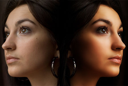 бронзовая кожа урок фотошопа