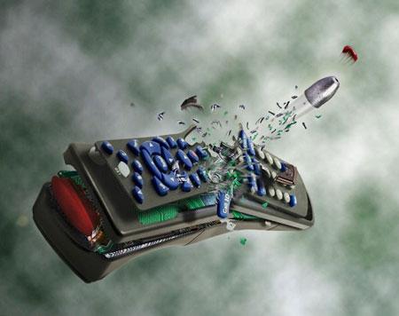 Замедленное движение пули,фото в Фотошоп