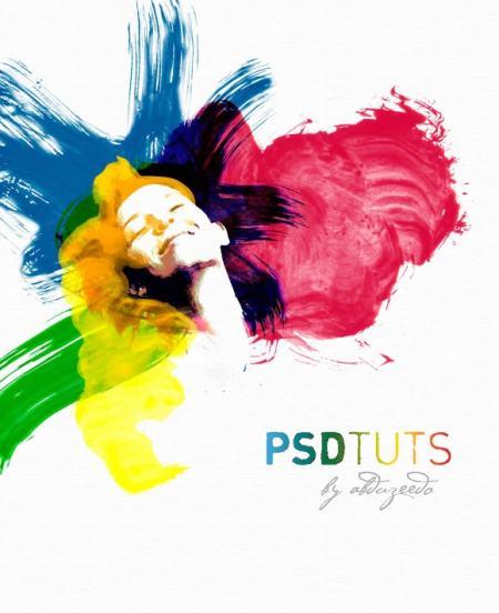 Сделай акварельный фотоэффект, фотоэффект в фотошоп, краски в фотошоп, уроки фотошоп