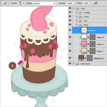 Рисуем торт в фотошопе