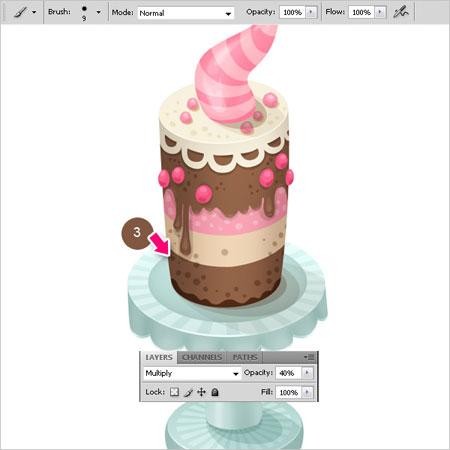 кисти нарисованные торты фотошоп