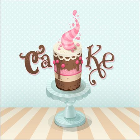 Рисуем кремовый торт в Фотошоп, рисование в фотошоп, уроки фотошоп