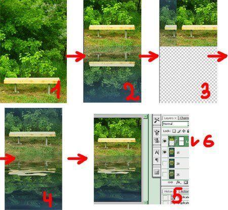 Как сделать в фотошопе зеркальную копию