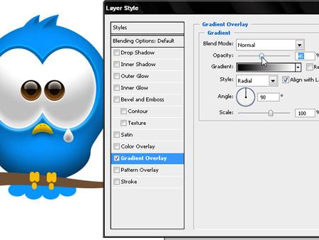 Рисуем птичку Twitter в Фотошоп