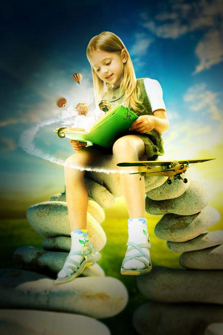 Волшебная книга в Фотошоп