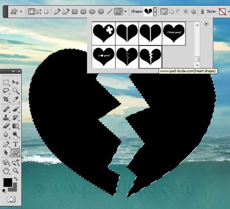 Как создать сердце в фотошопе