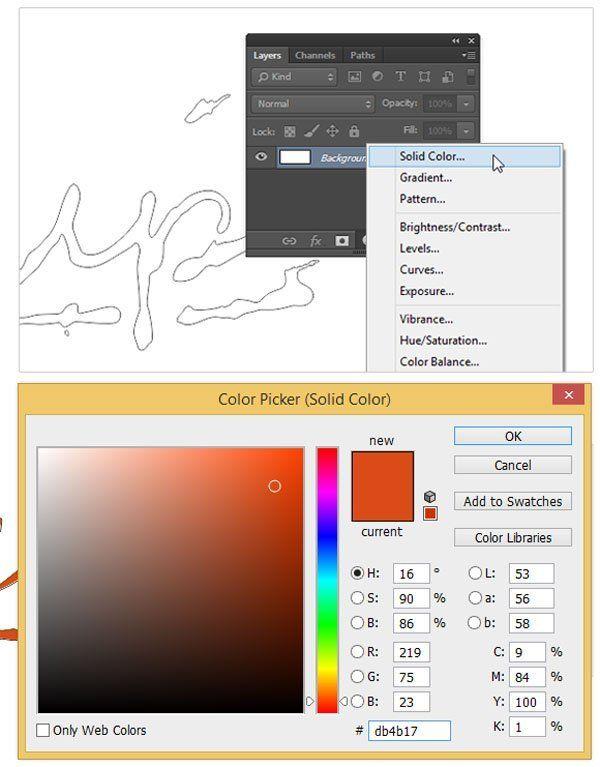 как добавить цветов в фотошопе георгиевскую
