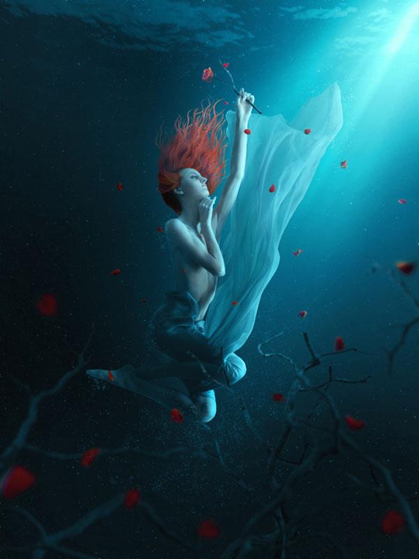 """Урок по фотошопу """"Подводная сцена """""""