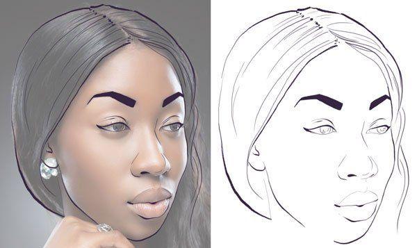 Как сделать нарисованный портрет в фотошопе фото 487