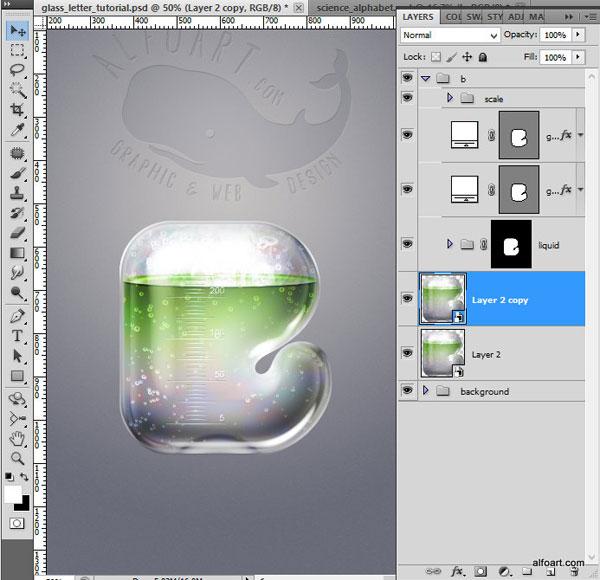 Как в фотошопе сделать эффект стекла в