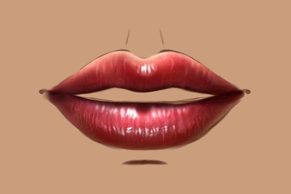 Как нарисовать пухлые губы