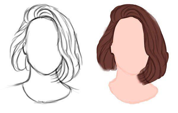 Рисовать голову с волосами