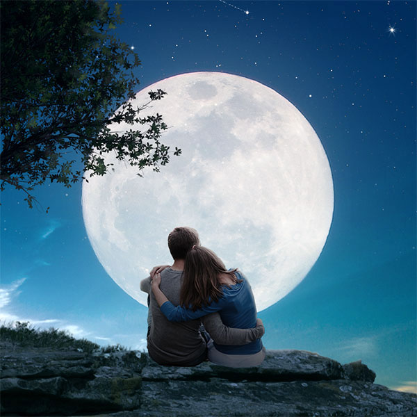 понимаем, картинки вдвоем под луной ней