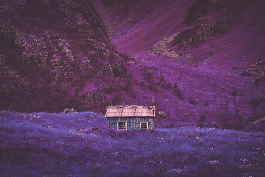 Создание инфракрасного эффекта на фотографии в Фотошоп