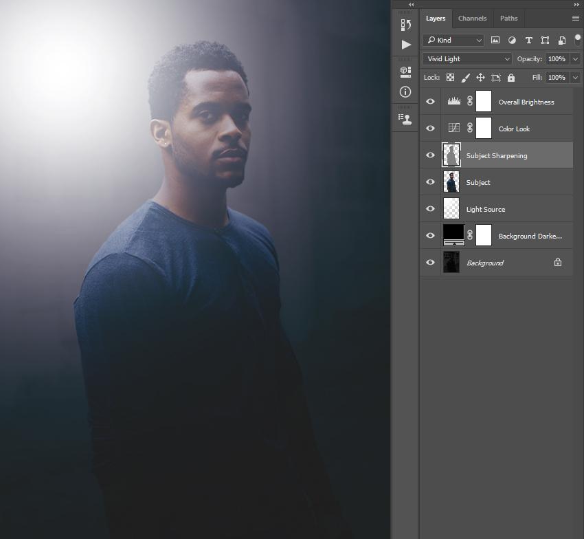 Создаём мягкий фоновый свет на фото