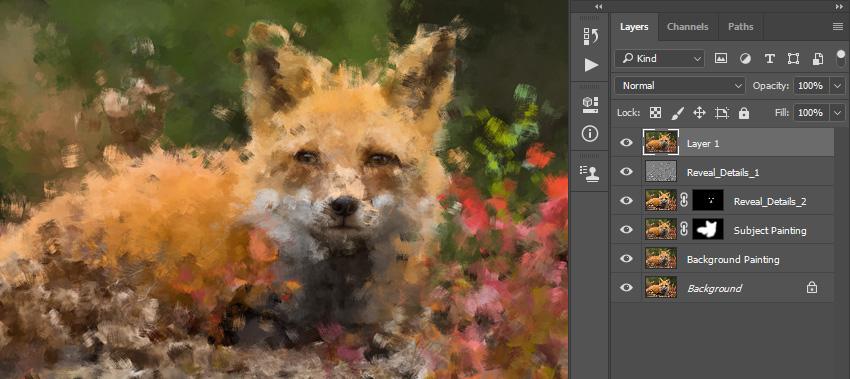 Имитируем живопись при помощи экшена