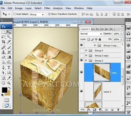 Как сделать слой полупрозрачным в фотошоп