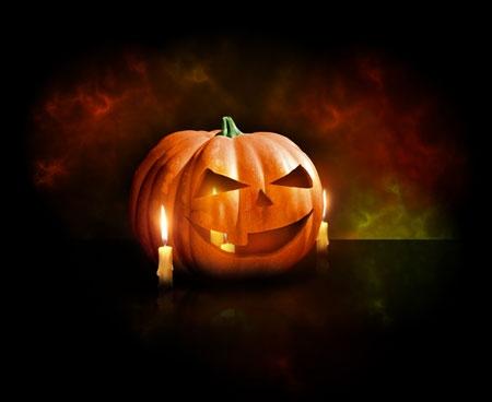 Делаем фонарь из тыквы, работа в Фотошоп, Halloween в фотошопе, уроки фотошоп