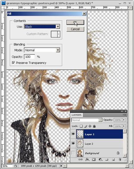 Делаем типографический портрет в Фотошоп
