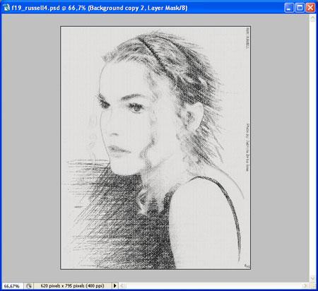 карандашный рисунок в фотошоп урок